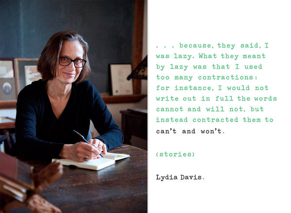 CAN'T AND WON'T: STORIES, BY LYDIA DAVIS